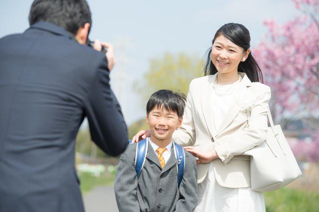 入学式 記念撮影